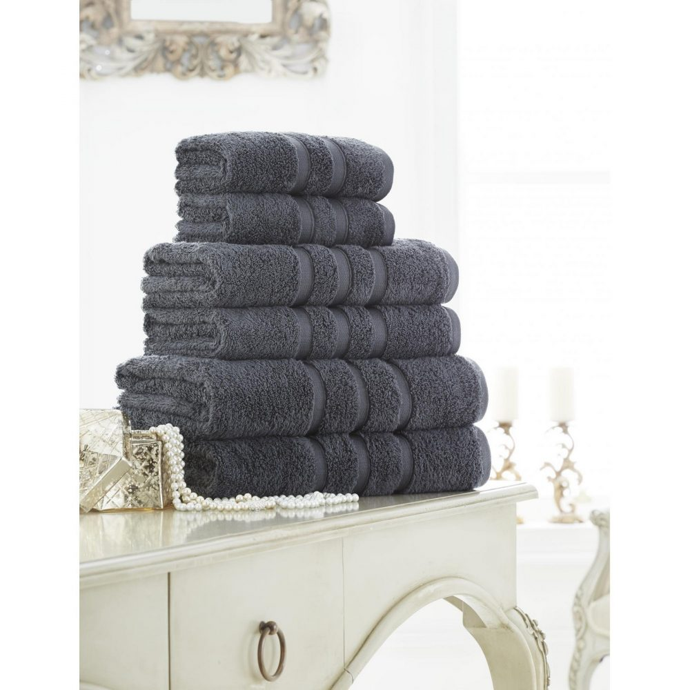41108566 zero twist bath sheet charcoal 1
