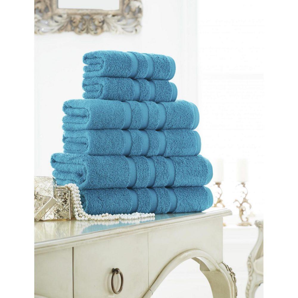 41108610 zero twist bath sheet turquoise 1
