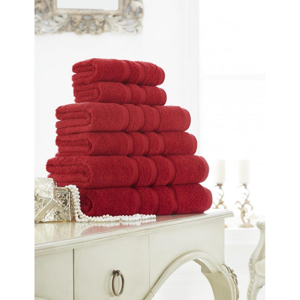 41108641 zero twist bath sheet red 1