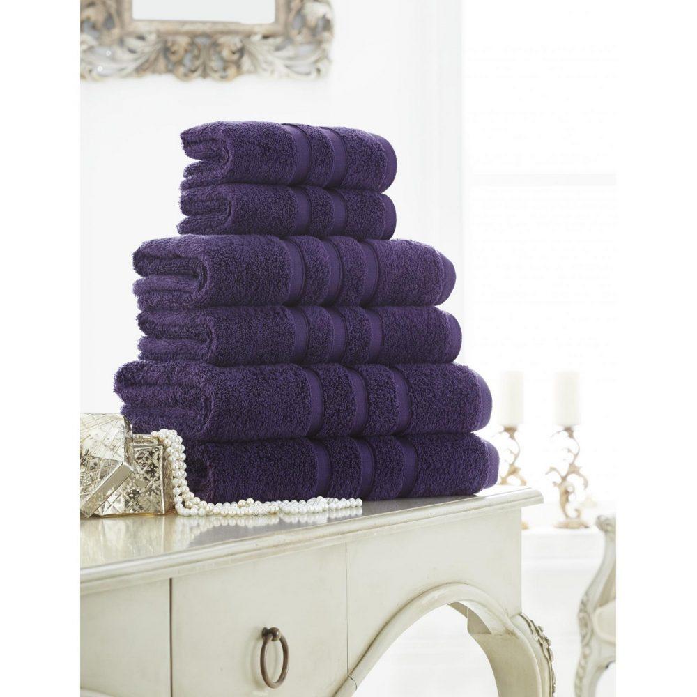 41108658 zero twist bath sheet purple 1