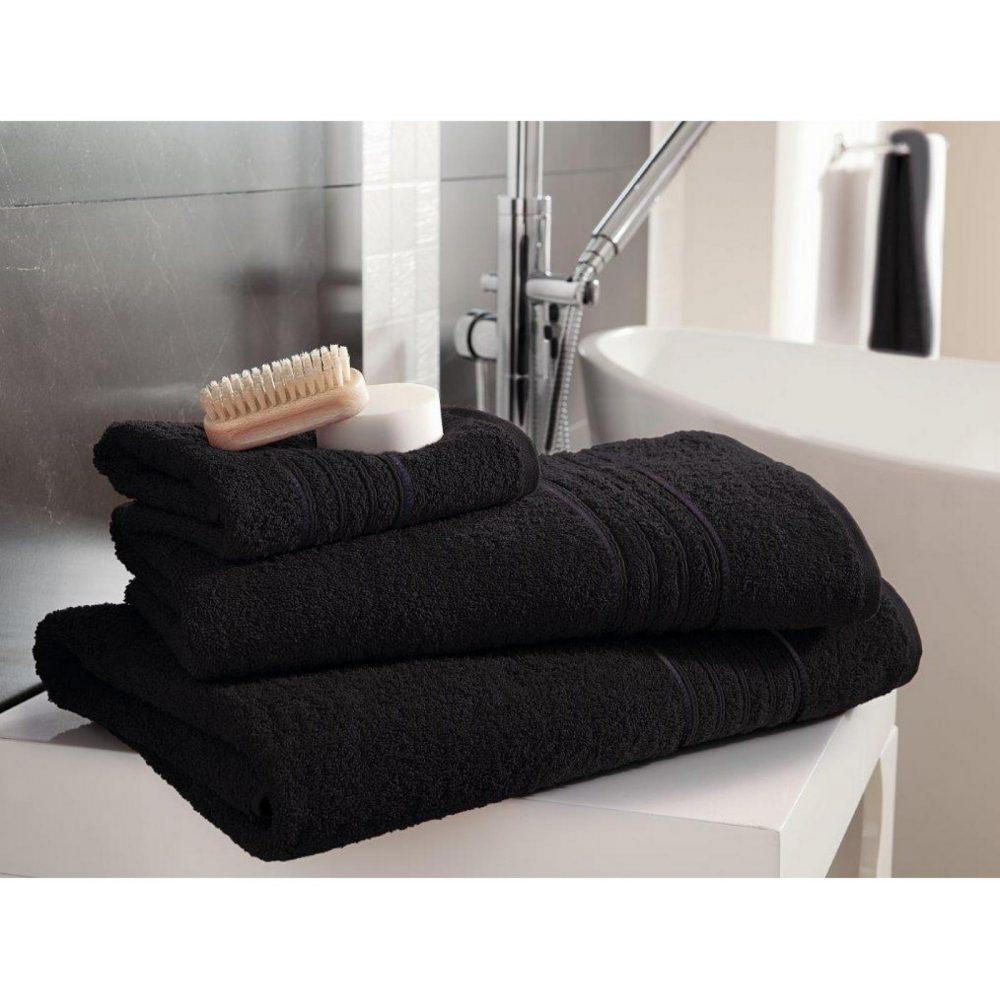 41148340 bath sheet hampton black 1