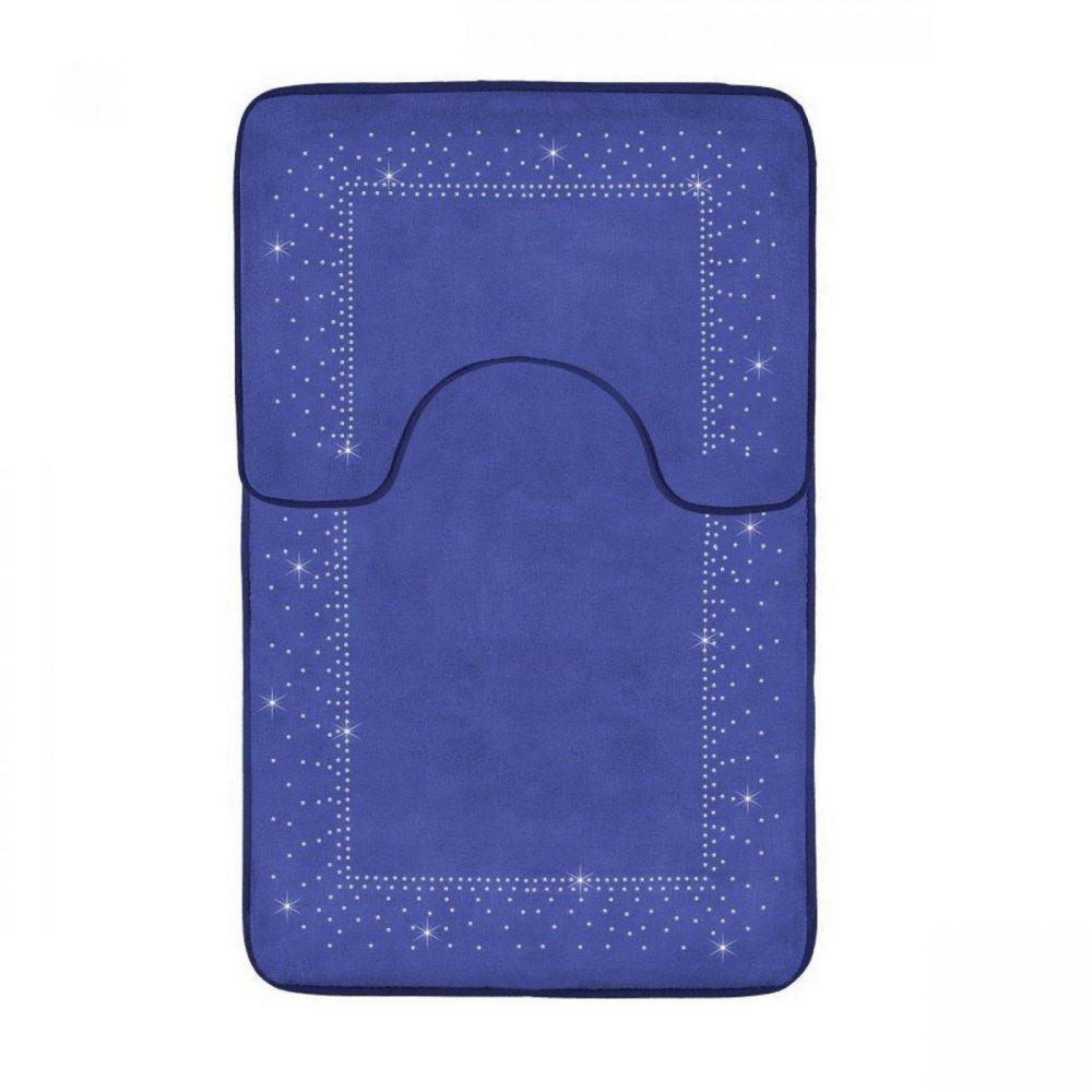 41167105 2pc sparkle memory bath mat royal blue 41167105 1 3