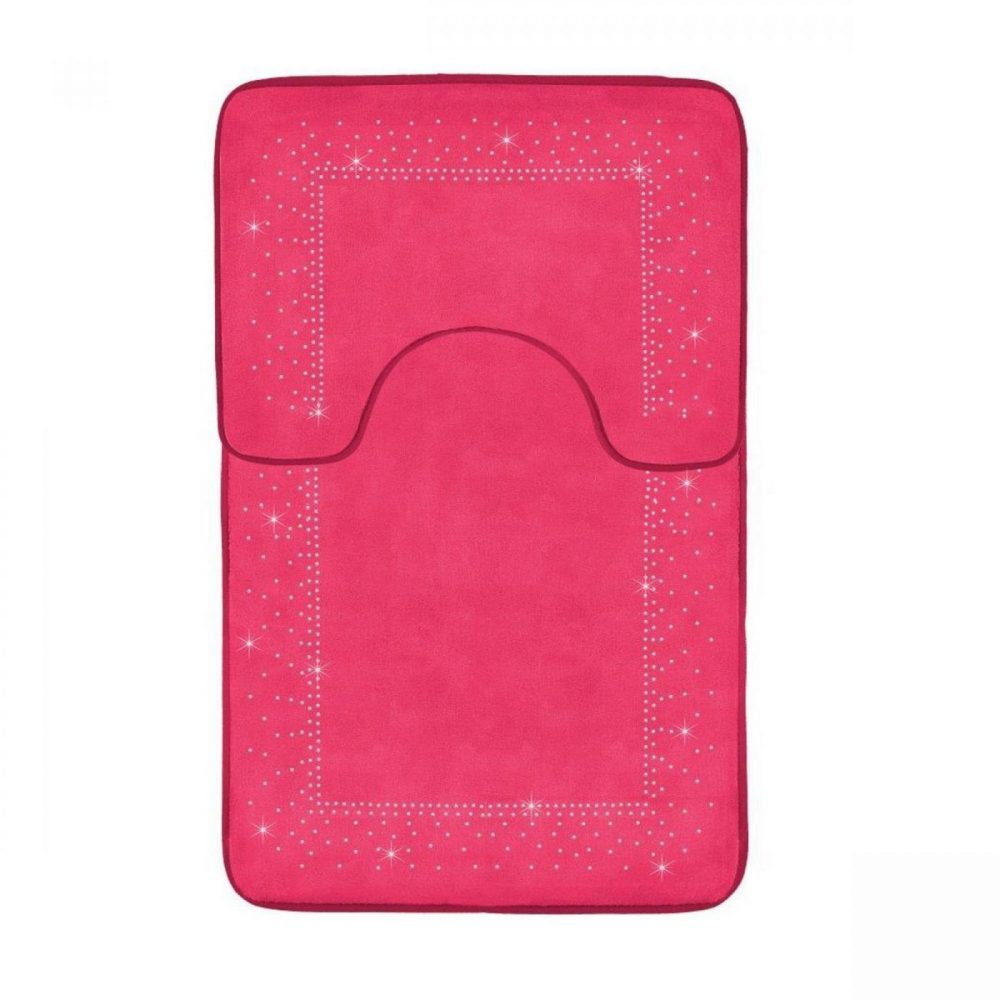 41167129 2pc sparkle memory bath mat pink 41167129 1 3