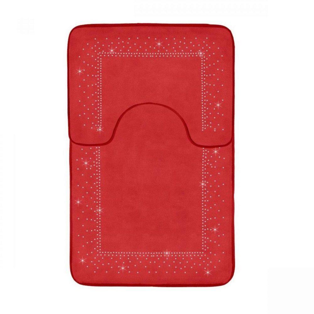 41167136 2pc sparkle memory bath mat red 41167136 1 3