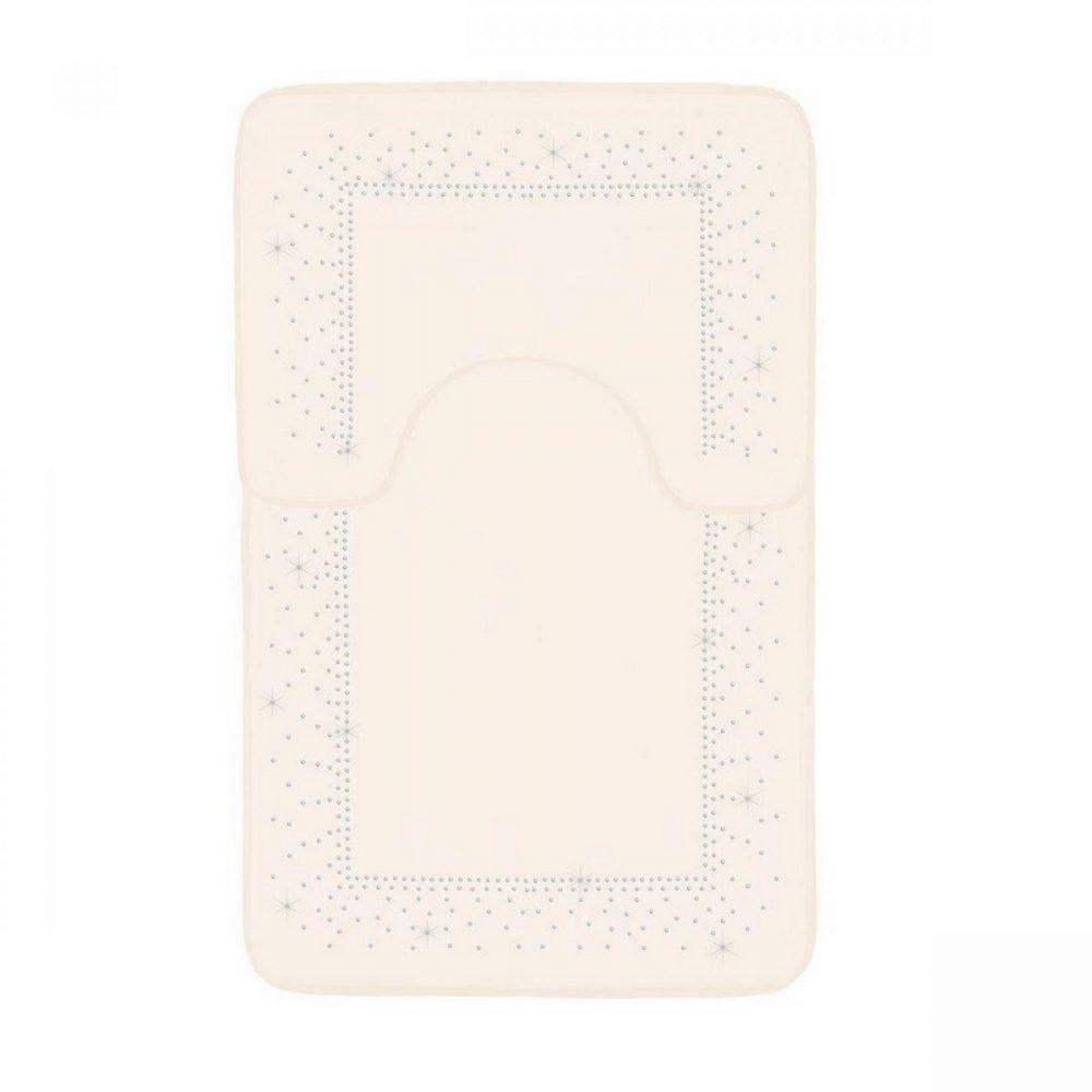 41167143 2pc sparkle memory bath mat cream 41167143 1 3