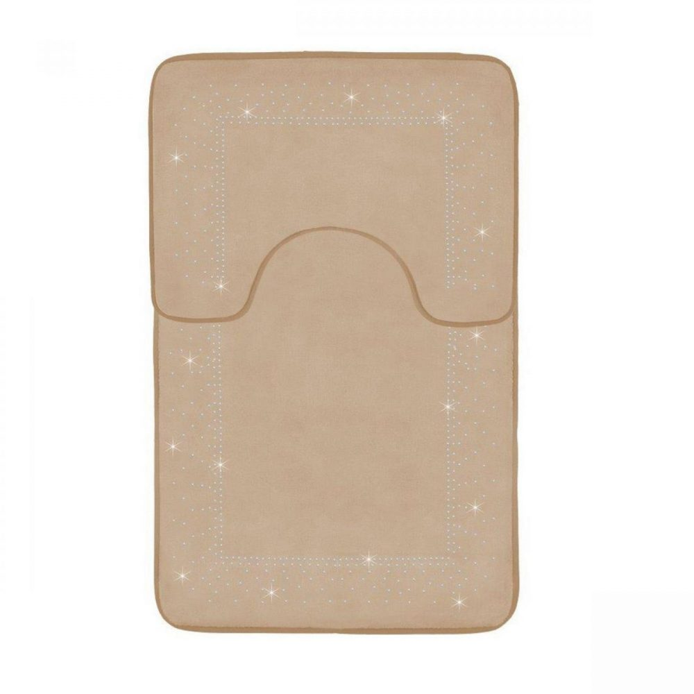 41167150 2pc sparkle memory bath mat natural 41167150 1 3