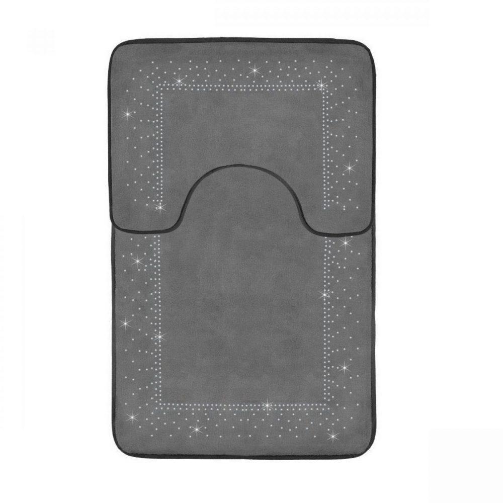 41167167 2pc sparkle memory bath mat grey 41167167 1 3