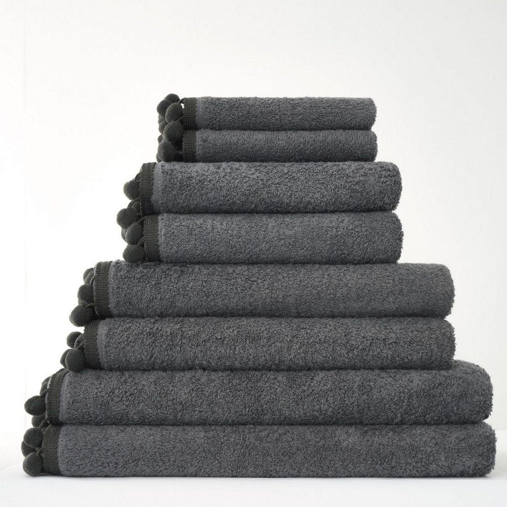 41358541 pom pom bath sheet charcoal 1