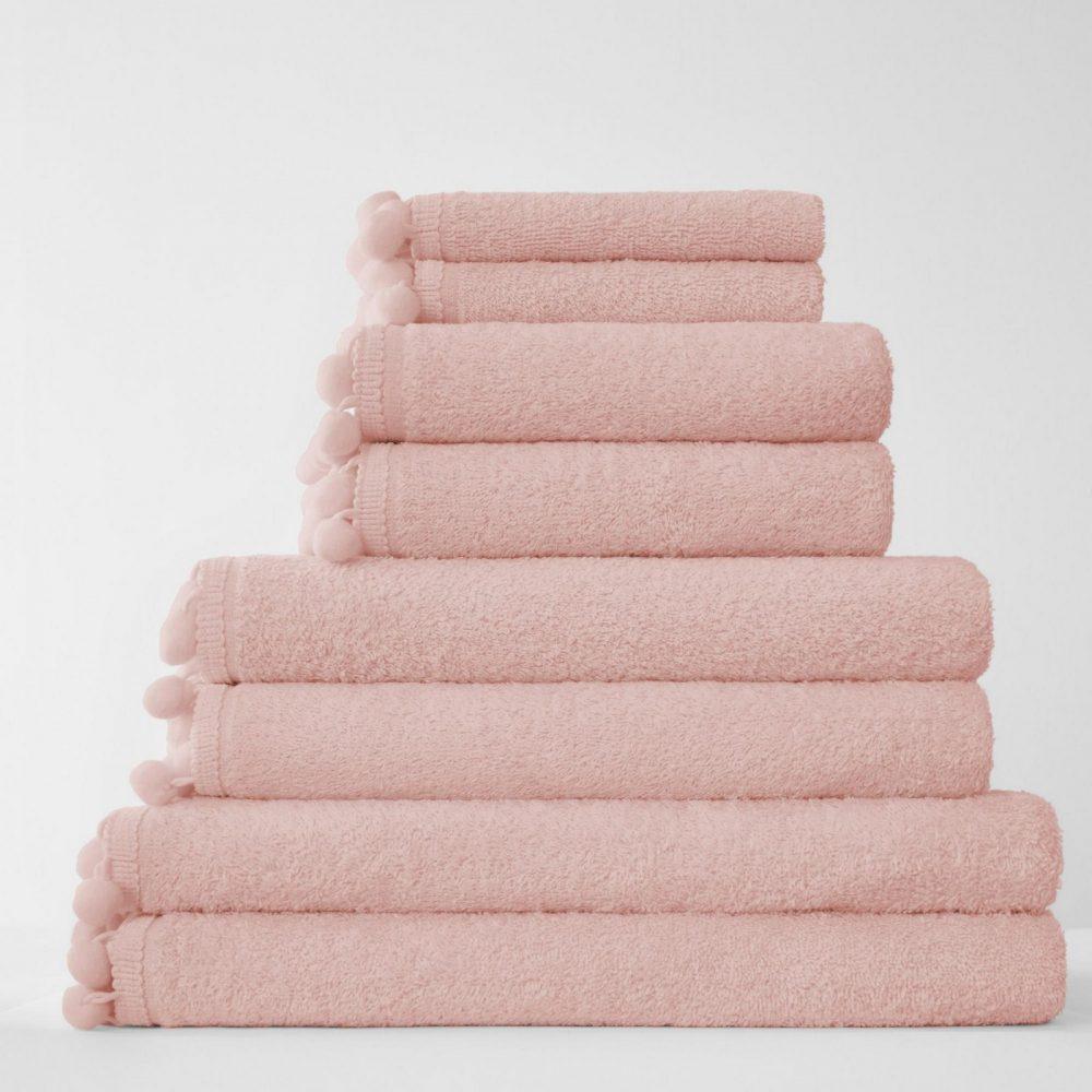 41358558 pom pom bath sheet pink 1