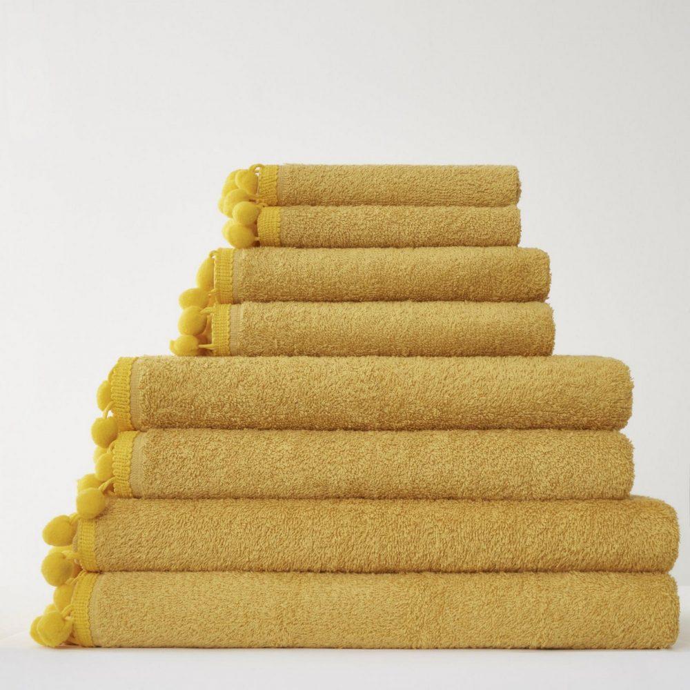 41358572 pom pom bath sheet ochre 1