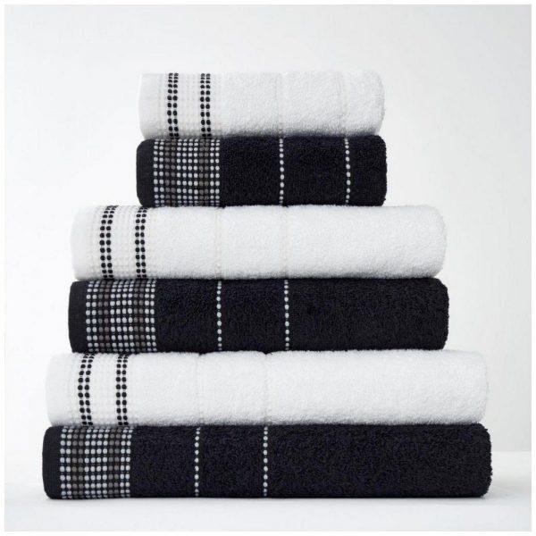 41363026 2pk dalby towel bath sheet black 1