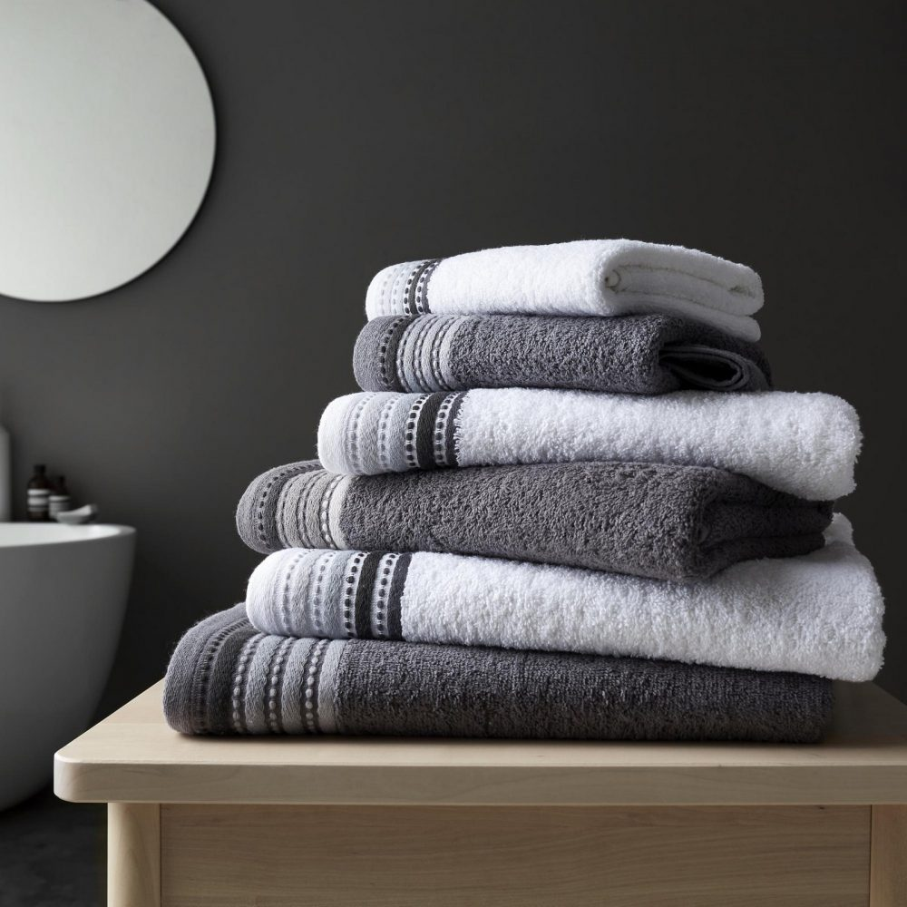 41363224 2pk malton towel bath sheet grey 1