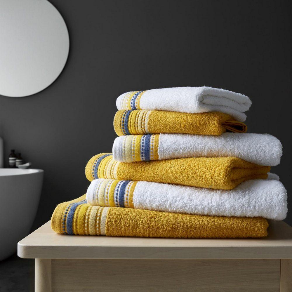 41363262 2pk malton towel bath sheet ochre 1