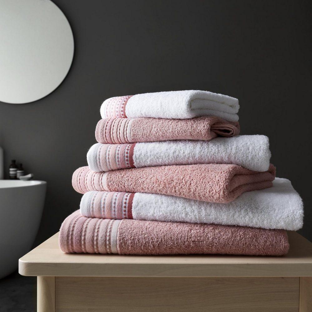 41363309 2pk malton towel bath sheet pink 1