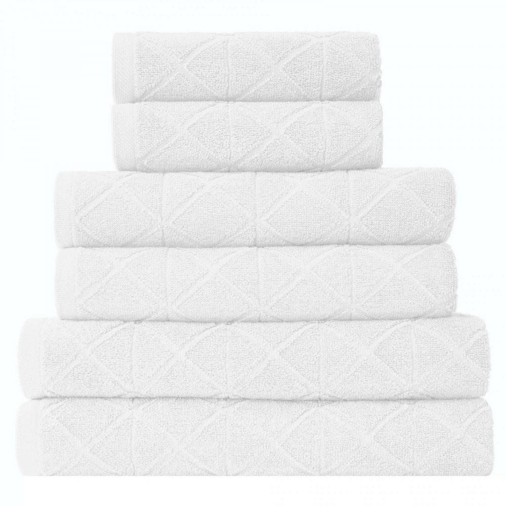 41374084 6pk geo bale towel white 1