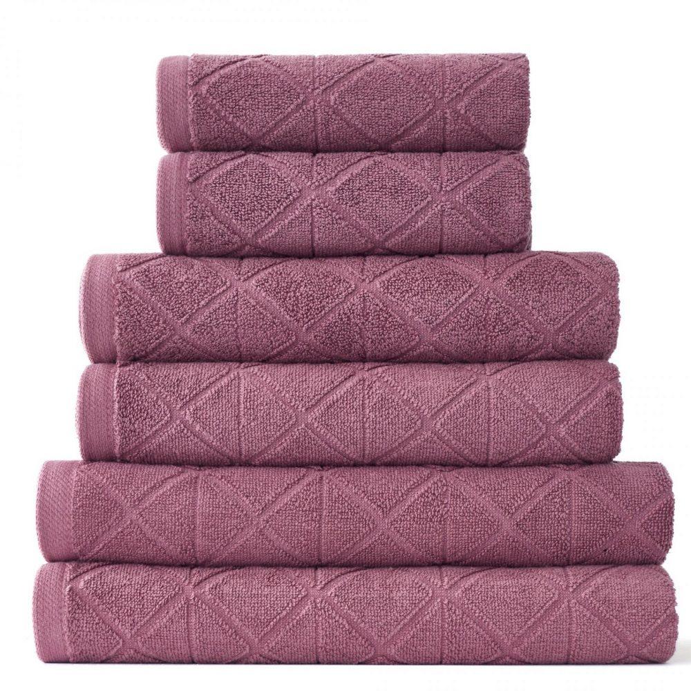 41374091 6pk geo bale towel rose 1