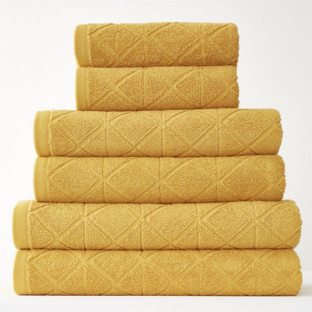 41374107 6pk geo bale towel ochre 1