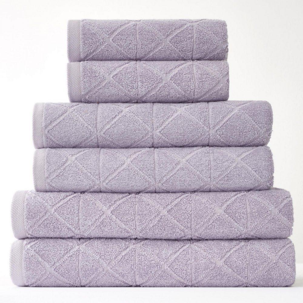 41374121 6pk geo bale towel lavender 1