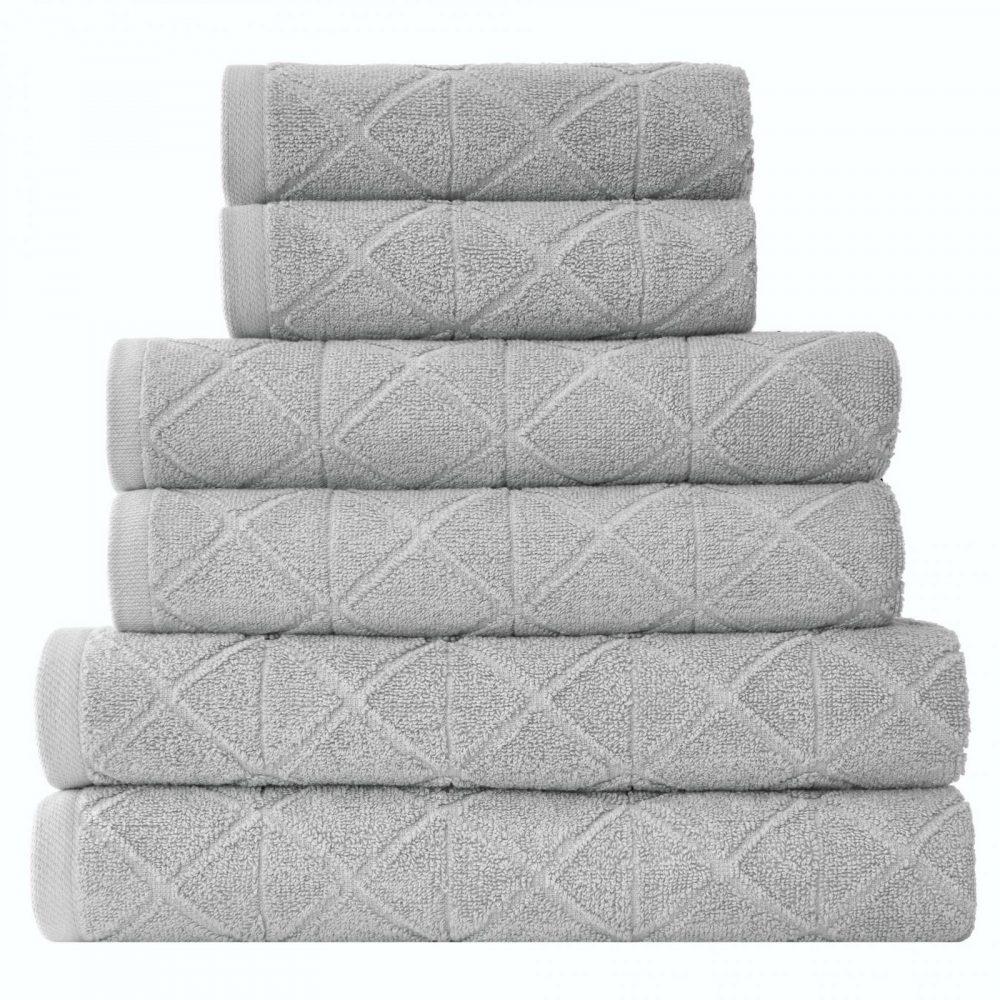 41374138 6pk geo bale towel grey 1