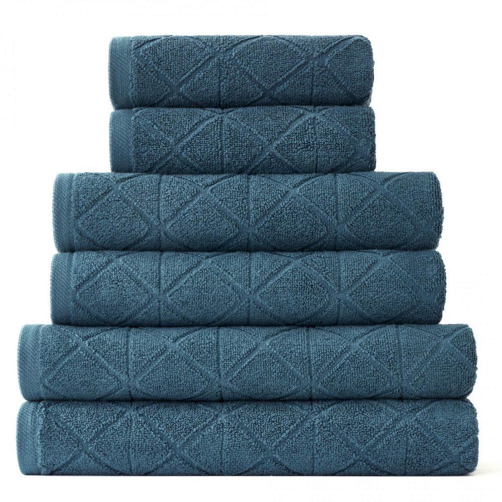 41374145 6pk geo bale towel dark teal 1