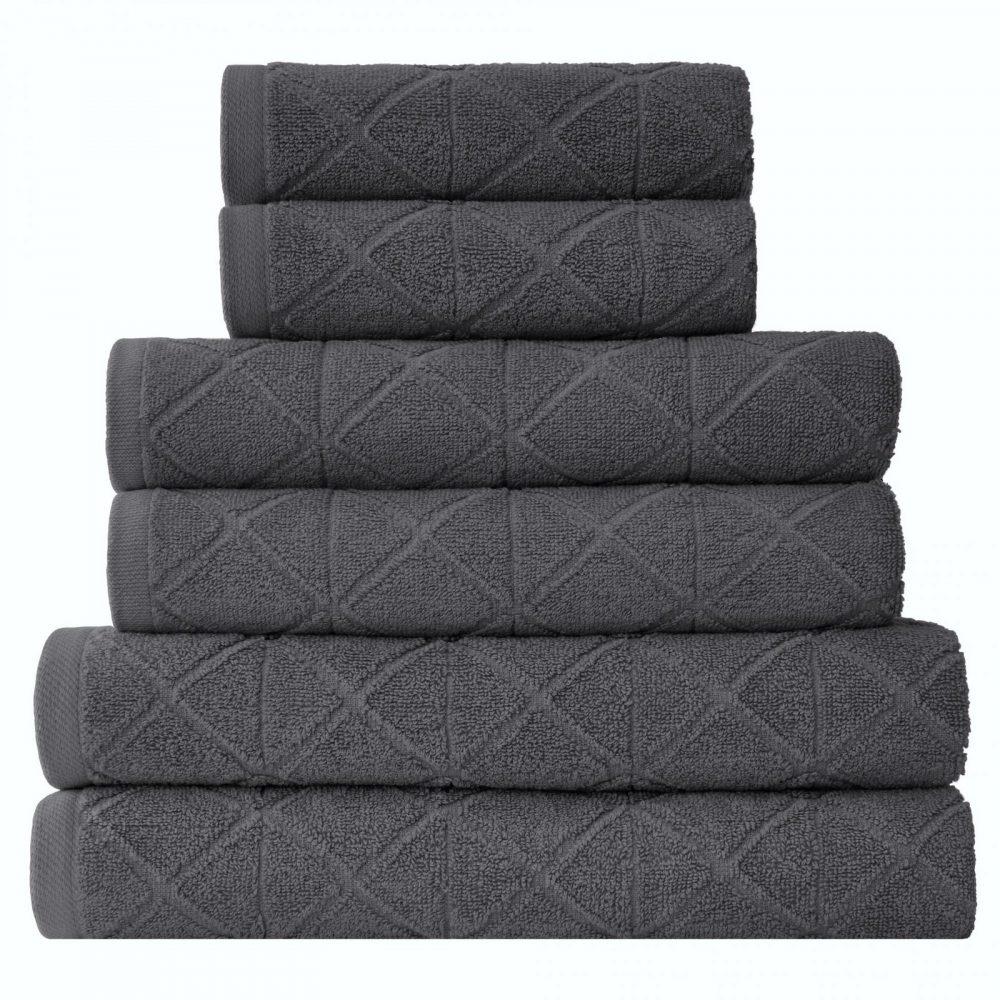 41374152 6pk geo bale towel charcoal 1