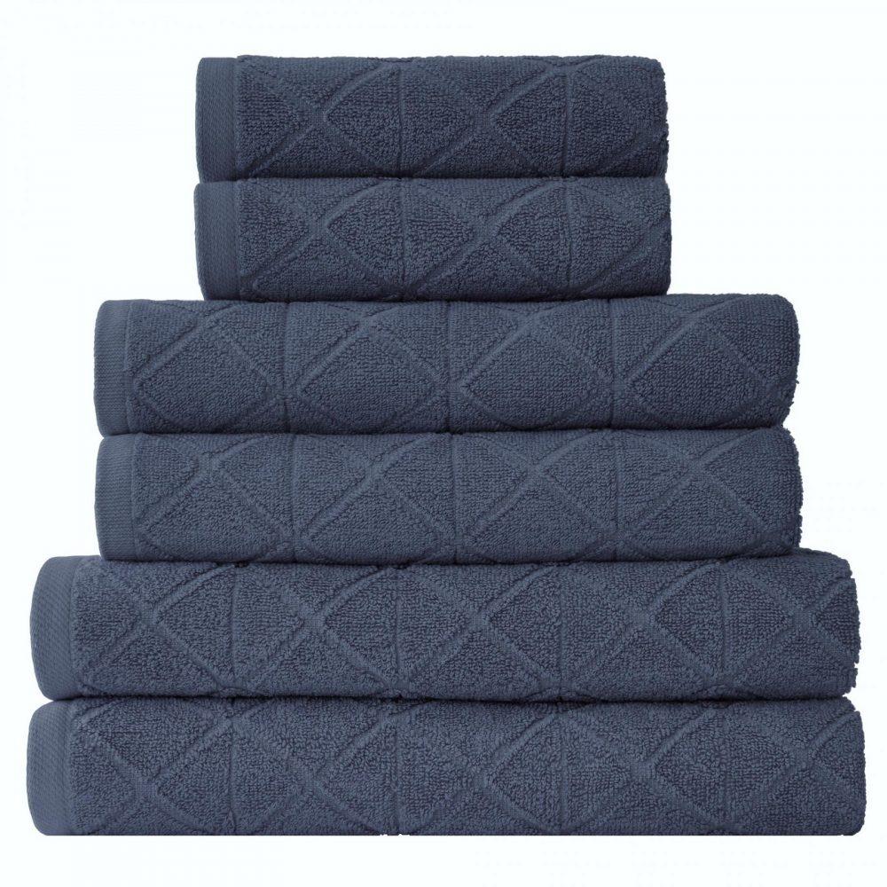 41374169 6pk geo bale towel blue 1