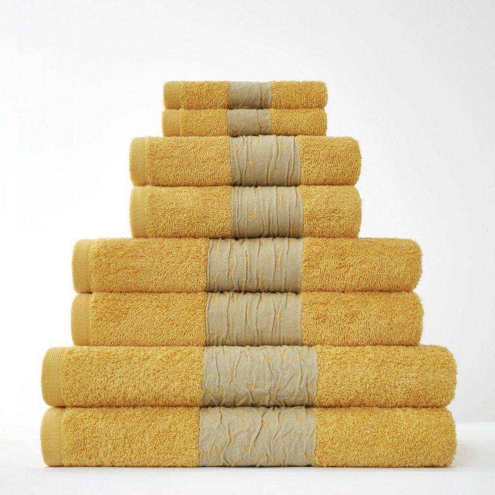 41374282 8pk bainsford towel ochre 1