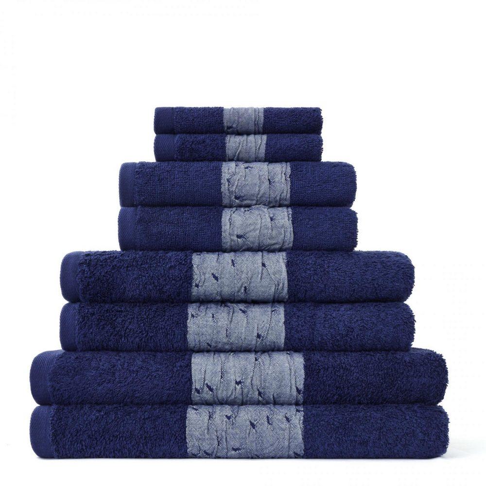 41374299 8pk bainsford towel navy 1