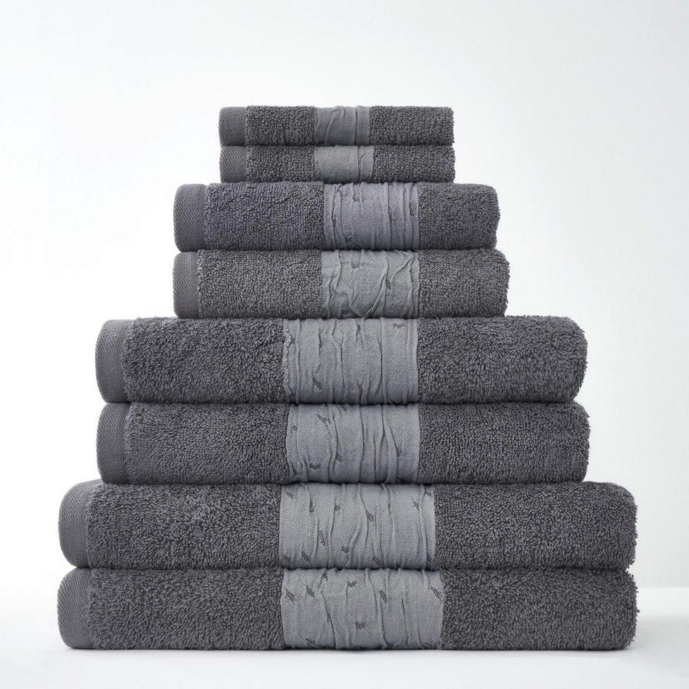 41374312 8pk bainsford towel charcoal 1