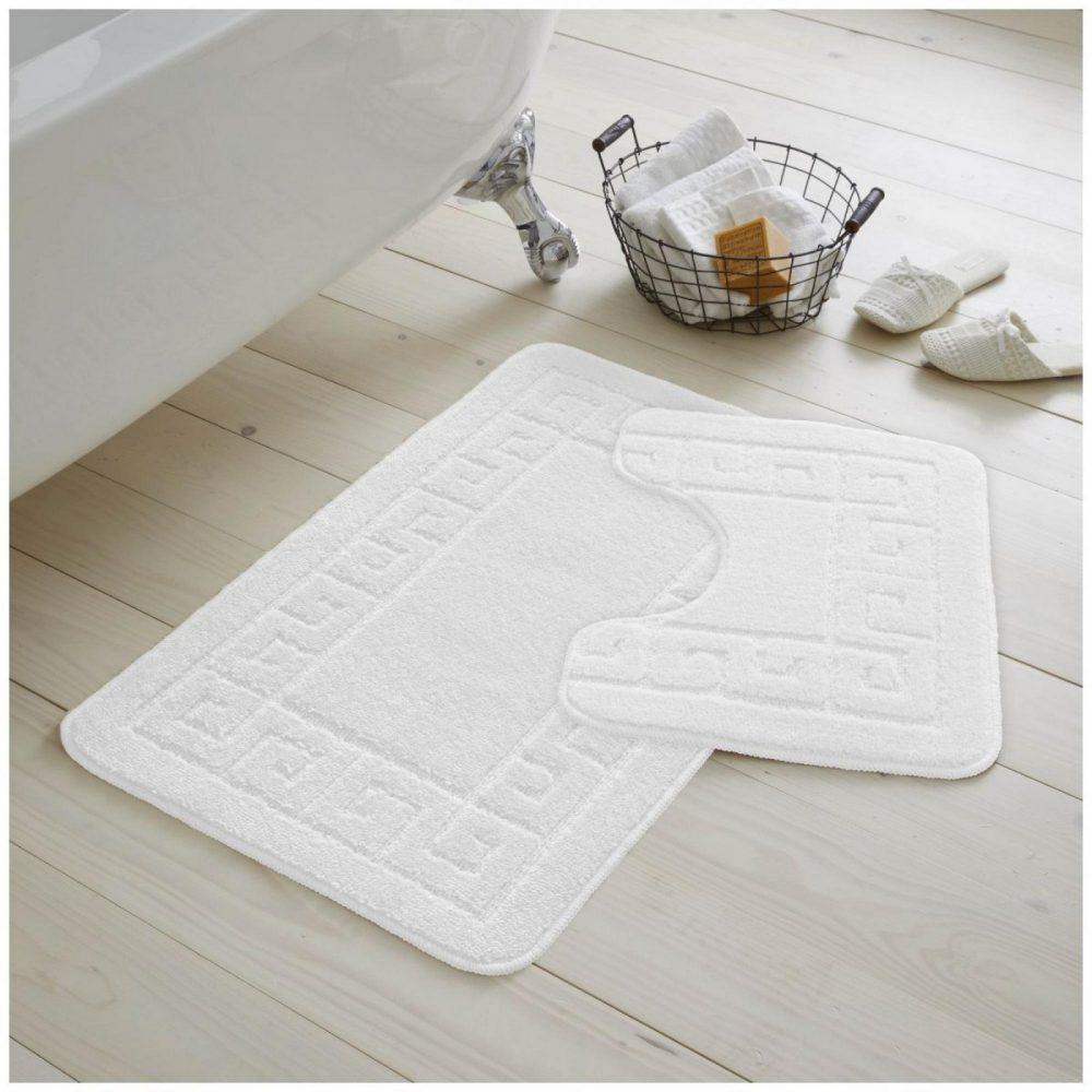 42070092 2pc hanger pack greek bath mat white 1 2