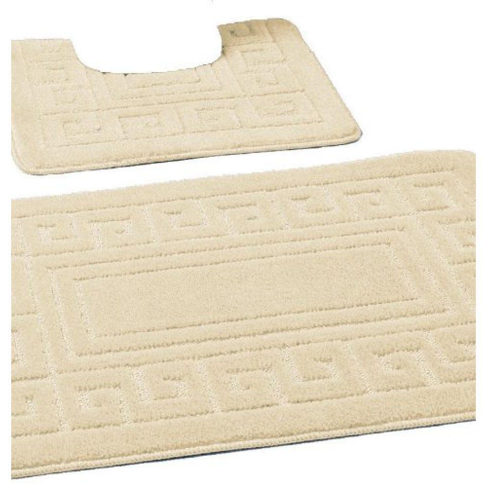 42070108 2pc hanger pack greek bath mat cream 15 pcs 1 3
