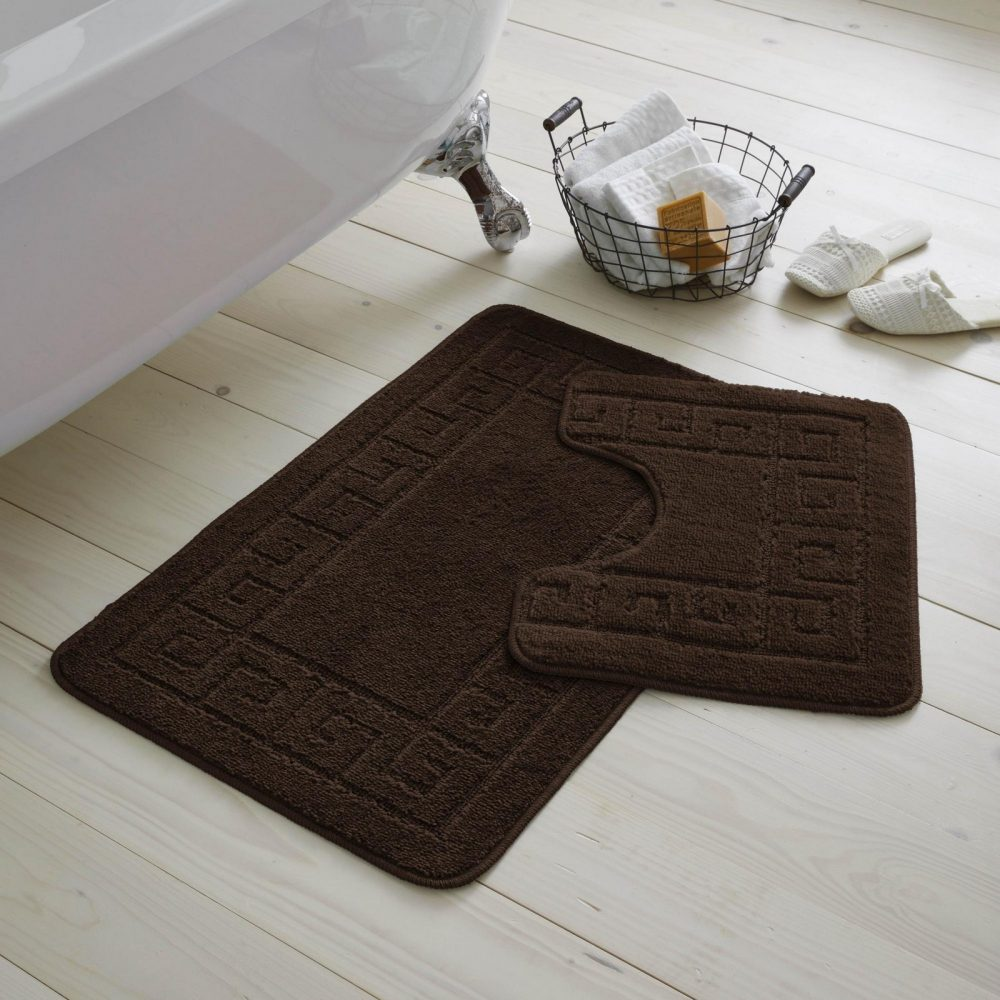 42070122 2pc hanger pack greek bath mat choco 1 2