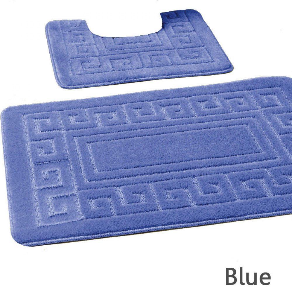 42070139 2pc hanger pack greek bath mat blue 15 pcs 1 3