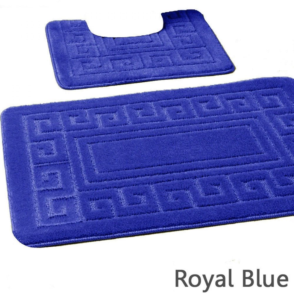 42070146 2pc hanger pack greek bath mat royal blue 15 pcs 1 3