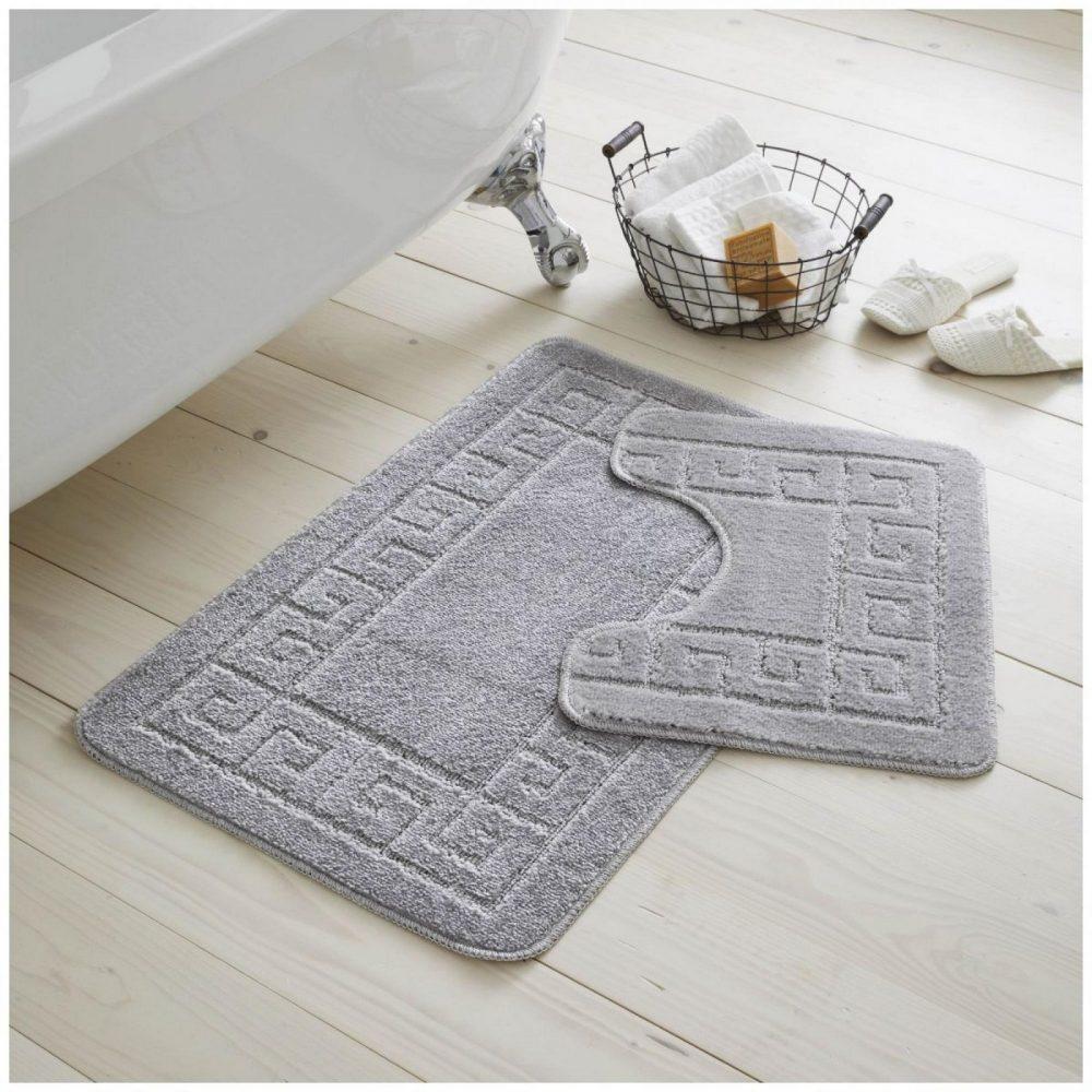 42070160 2pc hanger pack greek bath mat silver grey 1 2