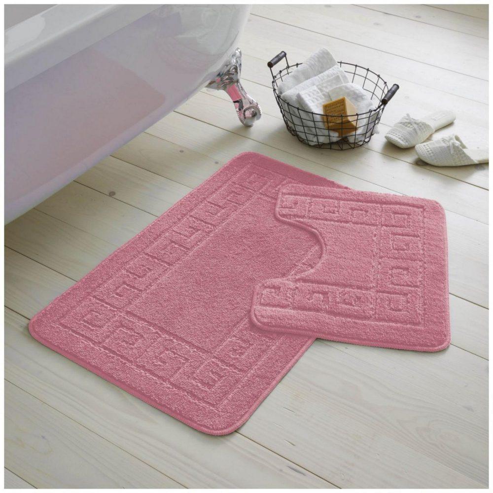 42070184 2pc hanger pack greek bath mat dusty pink 1 2