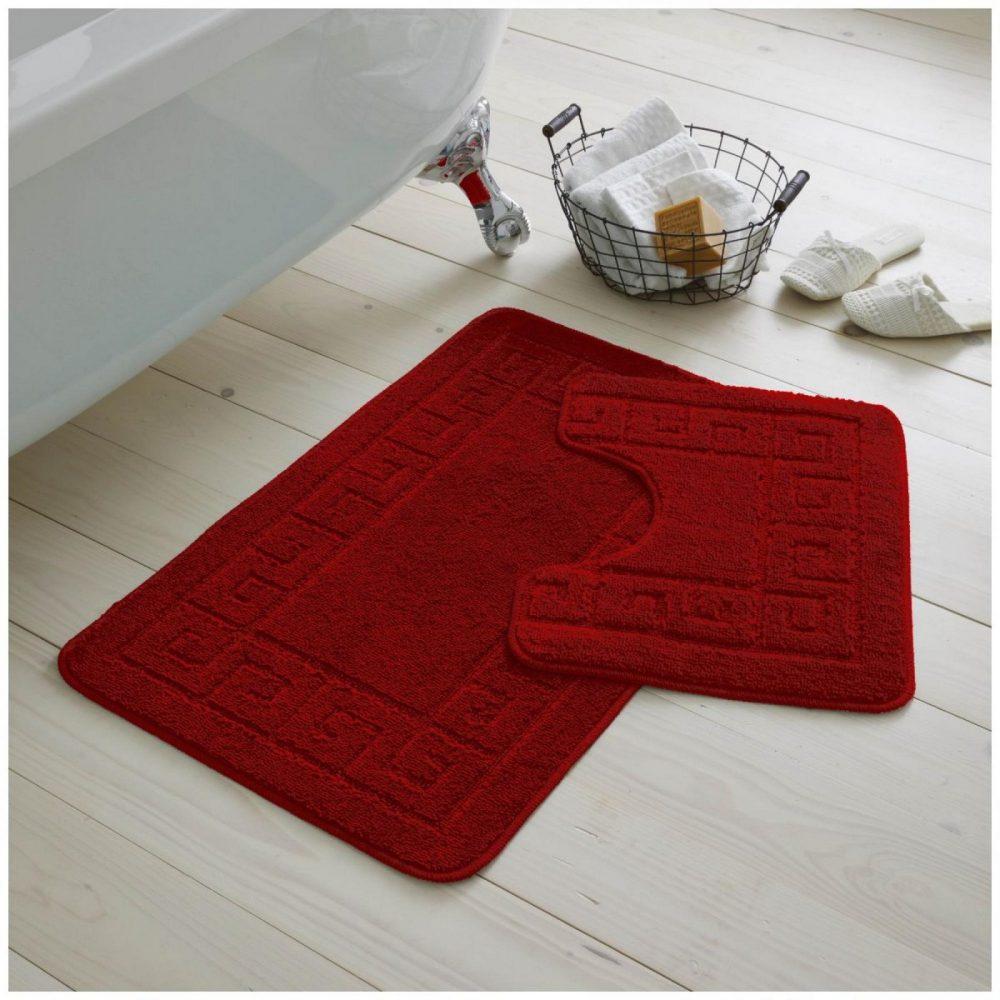 42095392 2pc hanger pack greek bath mat red 1 2
