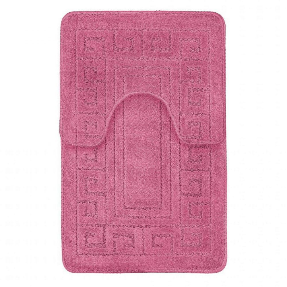 42095446 2pc hanger pack greek bath mat dark pink 1 3