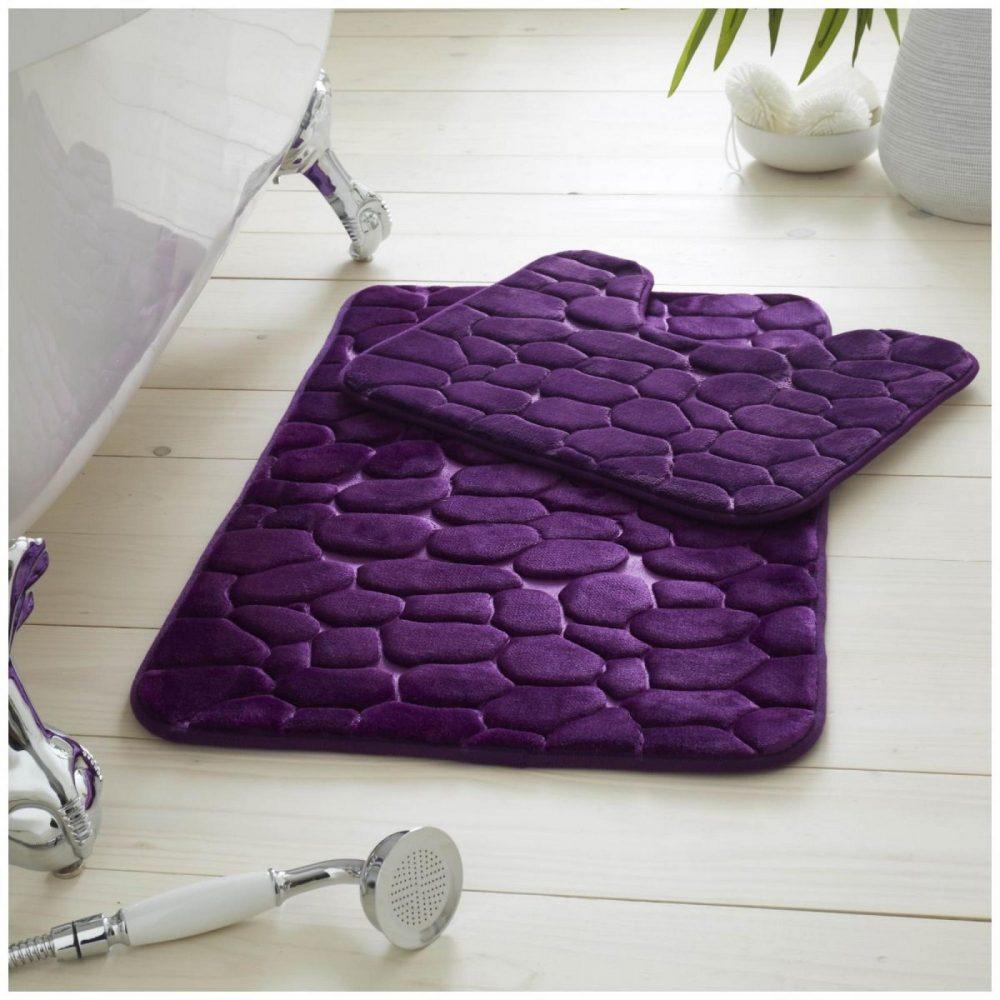 42117766 2pc pebble memory bath set purple 1 3