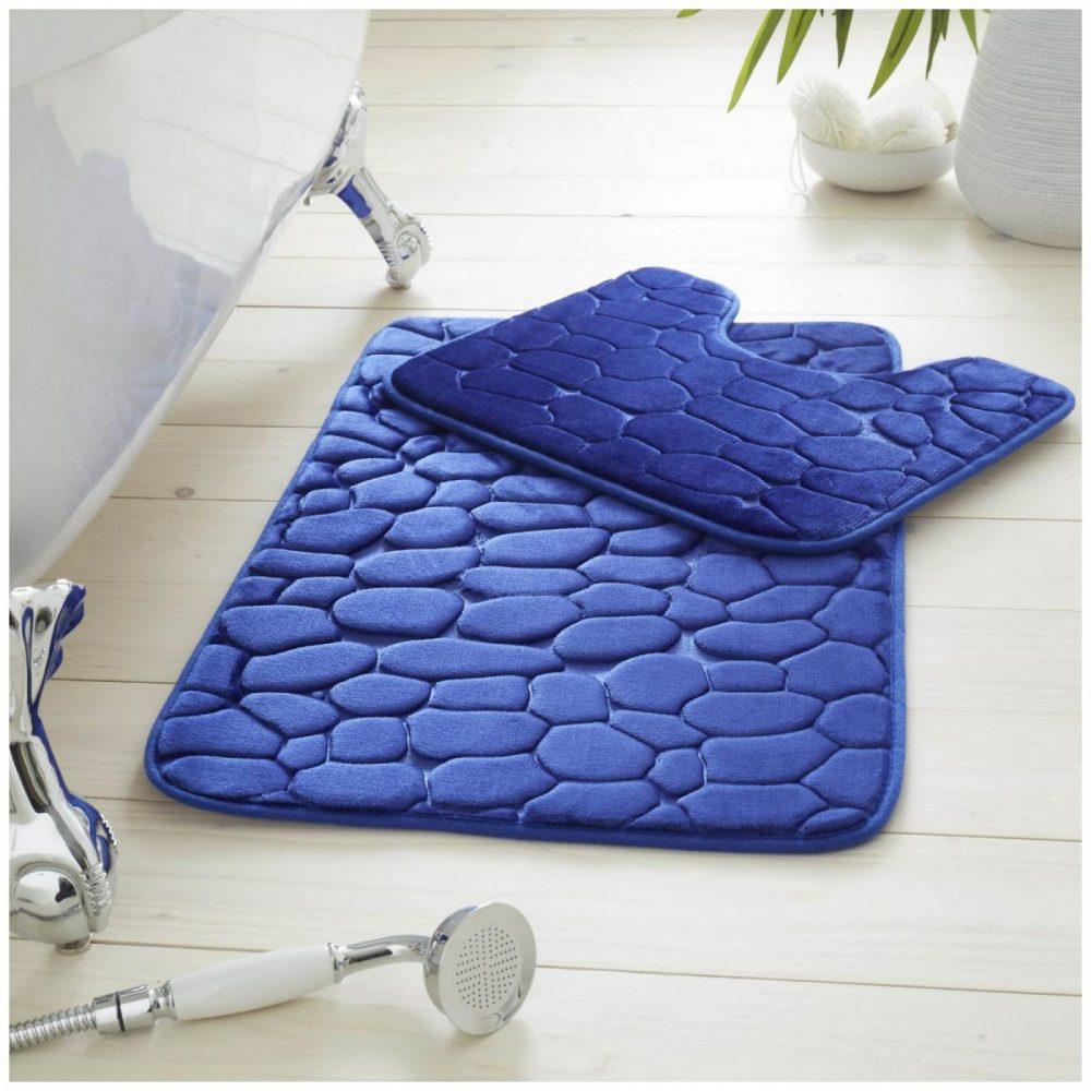 42119777 2pc pebble memory bath set royal blue 1 3