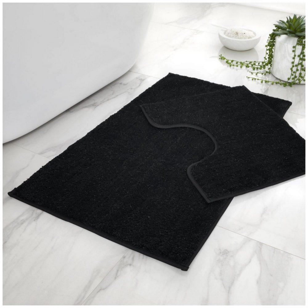 42137016 2 pc bath set shiny black 1 2