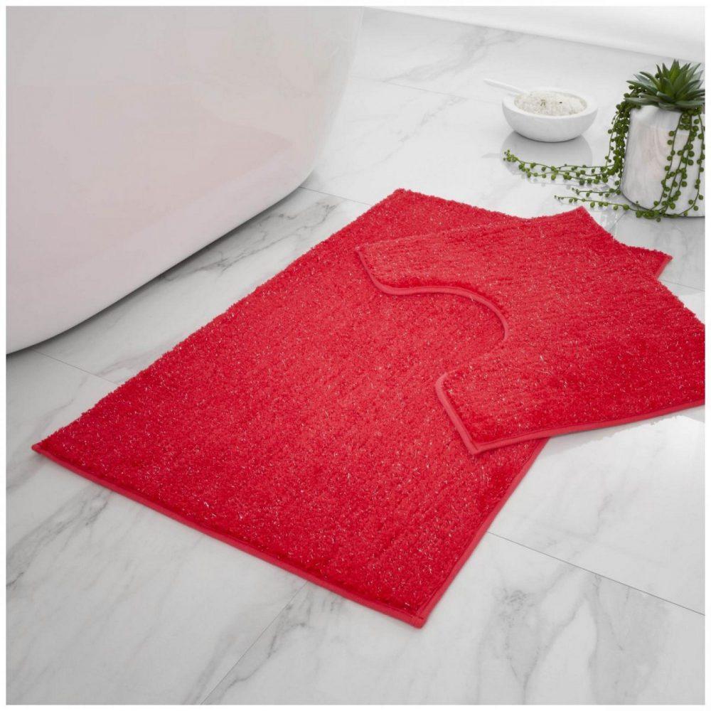 42137047 2 pc bath set shiny deep red 1 4