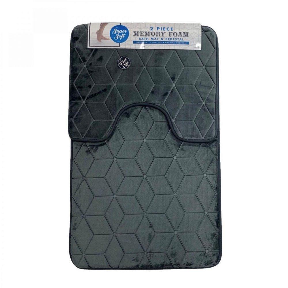 42156031 cube bath set 50x80 grey 1 3