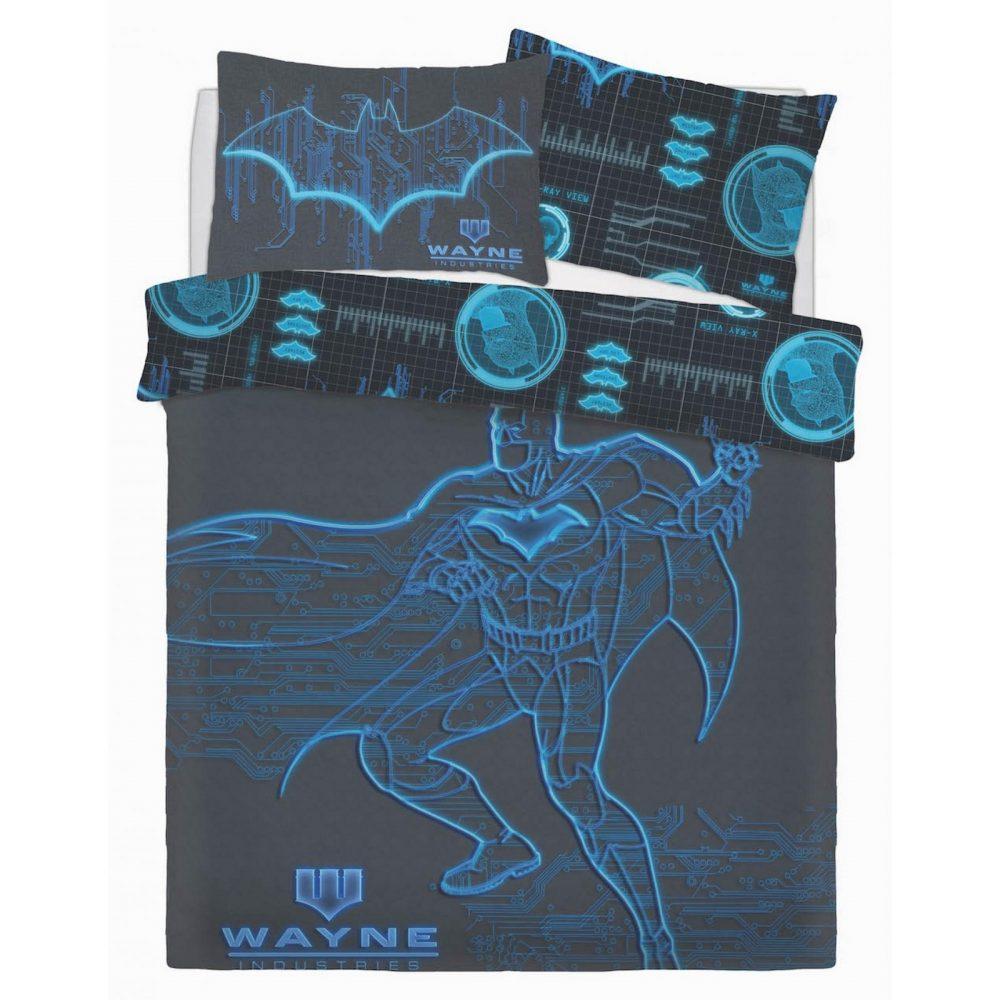 CB2710011 wb panel batman wayne industries duvet set double 1 2