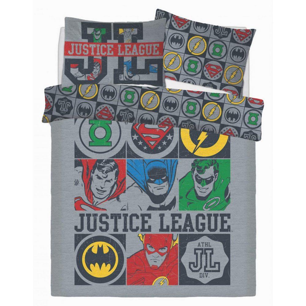 CB2710059 wb panel justice league vintage icons duvet set wb double 1 2