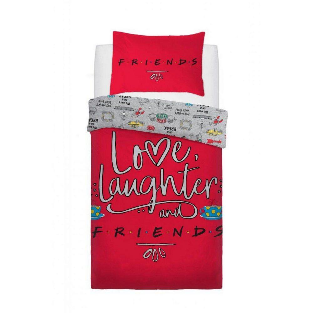 CB2721222 wb panel friends love laughter duvet set single 1 2